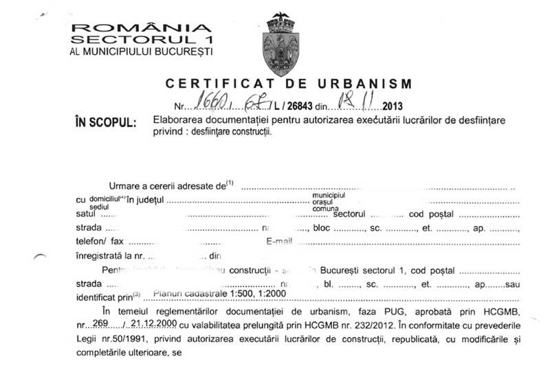 Certificat de urbanism bransament electric